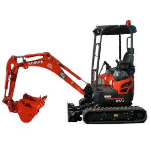 Kubota U17-3 with tilting hitch