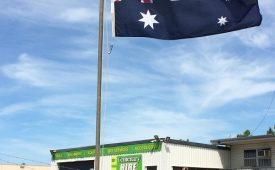 Flying the Australian Flag